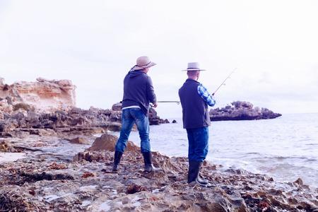 Picture of fisherman Reklamní fotografie - 85810784