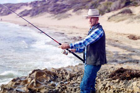 Picture of fisherman Reklamní fotografie - 86618530