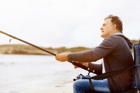 Picture of fisherman Reklamní fotografie - 86618883