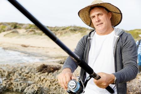 Picture of fisherman Reklamní fotografie - 87202650