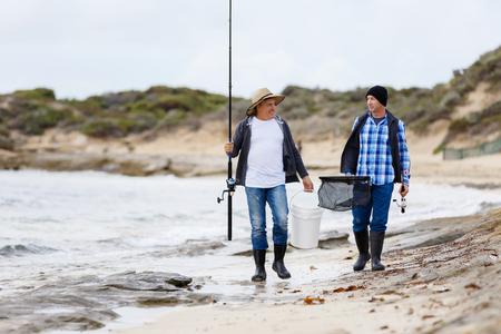Picture of fisherman Reklamní fotografie - 87202792