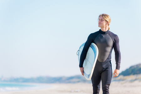 Ready to hit waves Stock Photo
