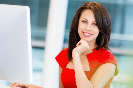 Modern successful business woman Standard-Bild