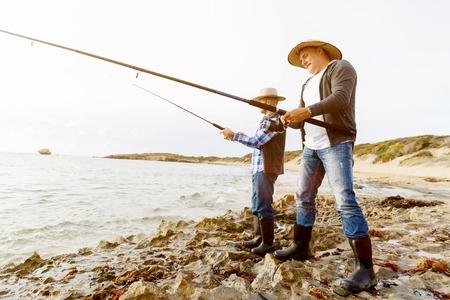 Picture of fisherman Reklamní fotografie - 87565498