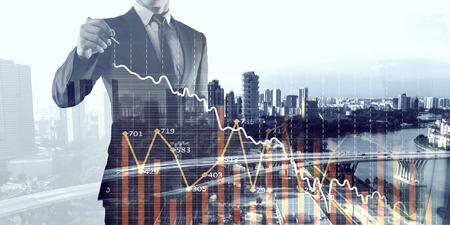 Financial business services. Mixed media Standard-Bild