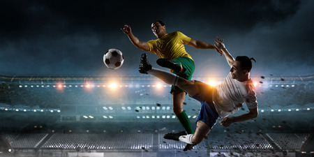 Soccer best moments. Mixed media Stock Photo