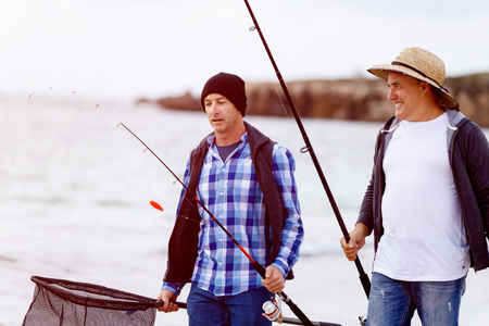 Picture of fisherman Reklamní fotografie - 87740431