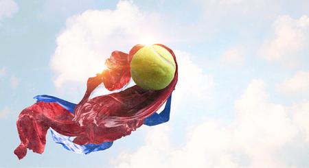 大きなテニス ゲームのコンセプト。ミクスト メディア 写真素材