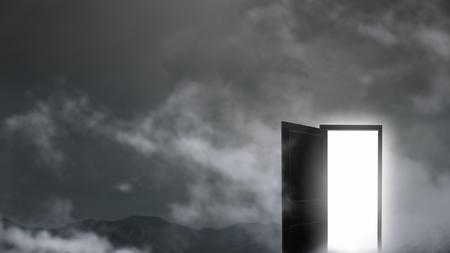 Door to new life Standard-Bild