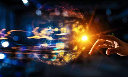 Creating innovative technologies. Mixed media Stock Photo - 88131437