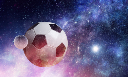 Soccer game concept Stock Photo