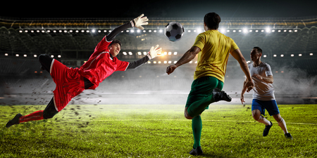 Soccer best moments. Mixed media Stock Photo - 88338133