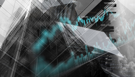 Business city background. Mixed media Banco de Imagens - 88338434