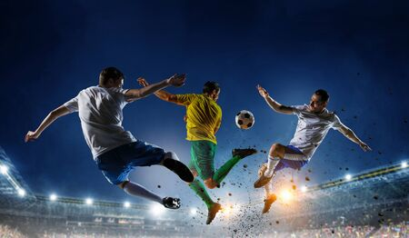 Soccer best moments. Mixed media Stock Photo - 88338625