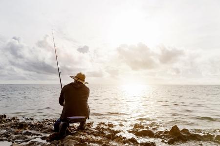Picture of fisherman Reklamní fotografie - 88400359