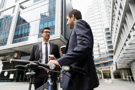 Young businessmen with a bike Stock fotó - 88400433