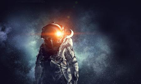 우주인의 모험. 혼합 매체 스톡 콘텐츠