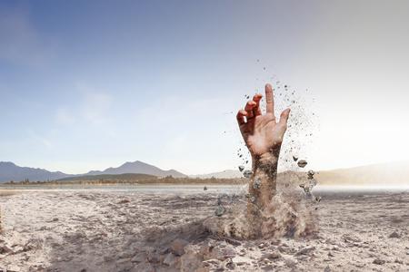 enterré bien mais pas cassé Banque d'images