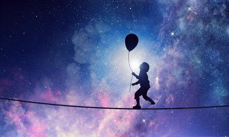 C'est doux rêve de nuit. Médias mélangés Banque d'images - 88745324