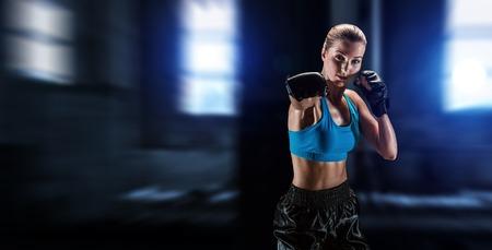 She is fighter. Mixed media 版權商用圖片