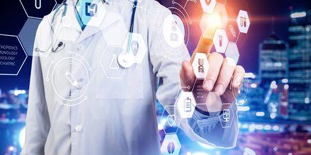 Media technologies in medicine Stock Photo
