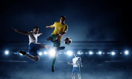 Soccer best moments. Mixed media Stock Photo - 88925336