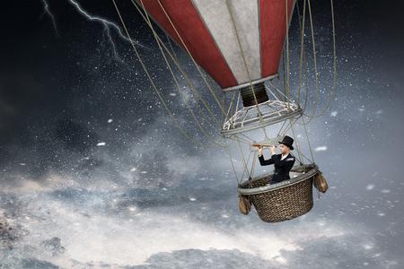 Air balloon in storm