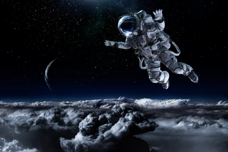 Astronaut on space mission