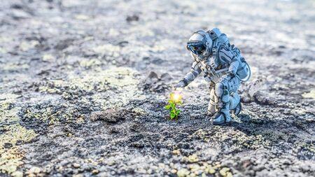 Es ist Leben auf dem Mond. Gemischte Medien Standard-Bild - 89041481
