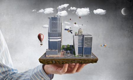 Sviluppo urbano. Supporti misti Archivio Fotografico - 89041416