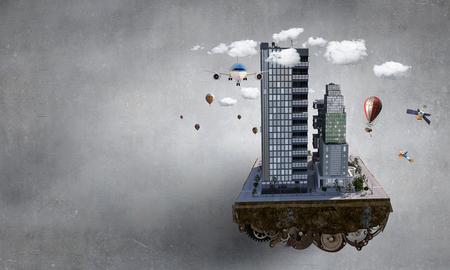 Concetto di città moderna. Media misti Archivio Fotografico - 89041285