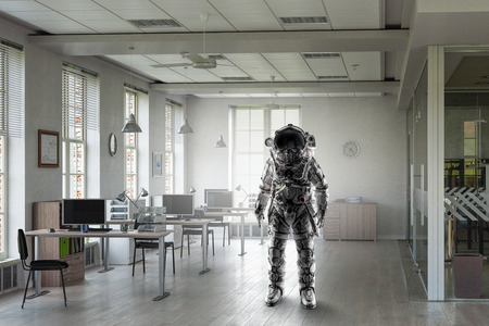 Abenteuer von spaceman Gemischte Medien Standard-Bild - 89430578