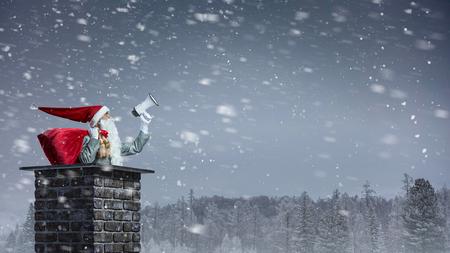 Santa Claus is already here . Mixed media Zdjęcie Seryjne - 89429528