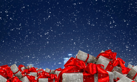 Many Christmas packages Stock Photo