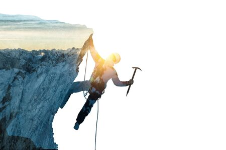 Alpinism sport as concept. Mixed media