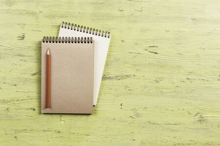 Notebook with pencil Stok Fotoğraf