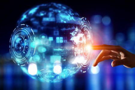 Creating innovative technologies . Mixed media Stock Photo