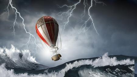 폭풍 속의 공기 풍선