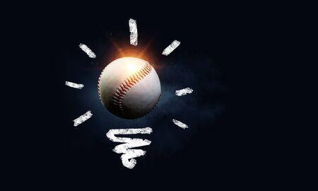 Light bulb and ball as sign for creativity