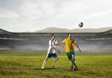 Soccer best moments. Mixed media Stock Photo - 91755452