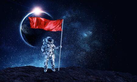 Pioniere dello spazio. Media misti Archivio Fotografico