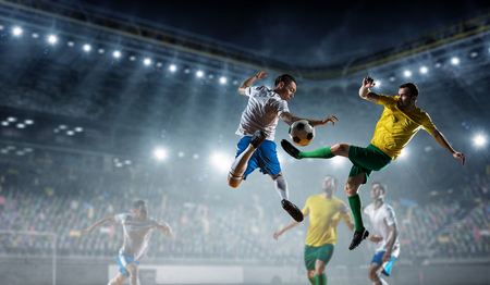 Soccer best moments. Mixed media Banco de Imagens