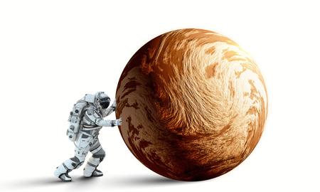 소송에서 우주 비행사 행성 롤. 혼합 매체
