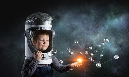 explore space . Mixed media Imagens