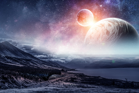 Space planets and nature Stok Fotoğraf - 97774199