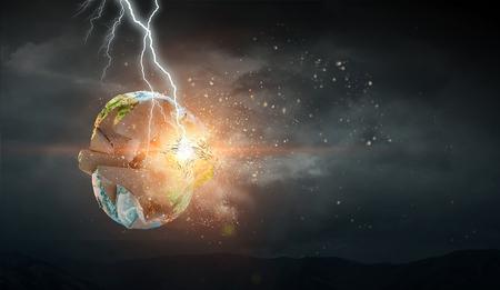 Dramatic apocalyptic background. Stock Photo - 98284056