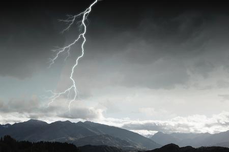 Dramatic thunder background Imagens
