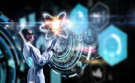 Biochemistry and technologies. Mixed media Imagens