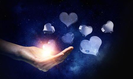 Glass heart symbol