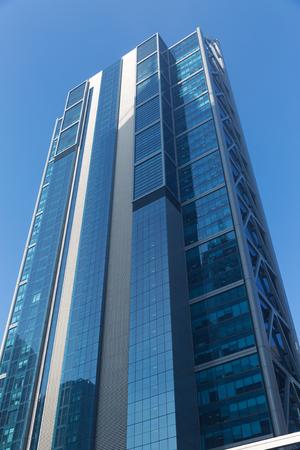 Onderaanzicht wolkenkrabber Stockfoto